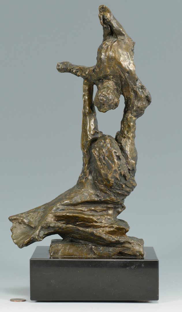 Lot 846: Bronze Sculpture, Mother and Child