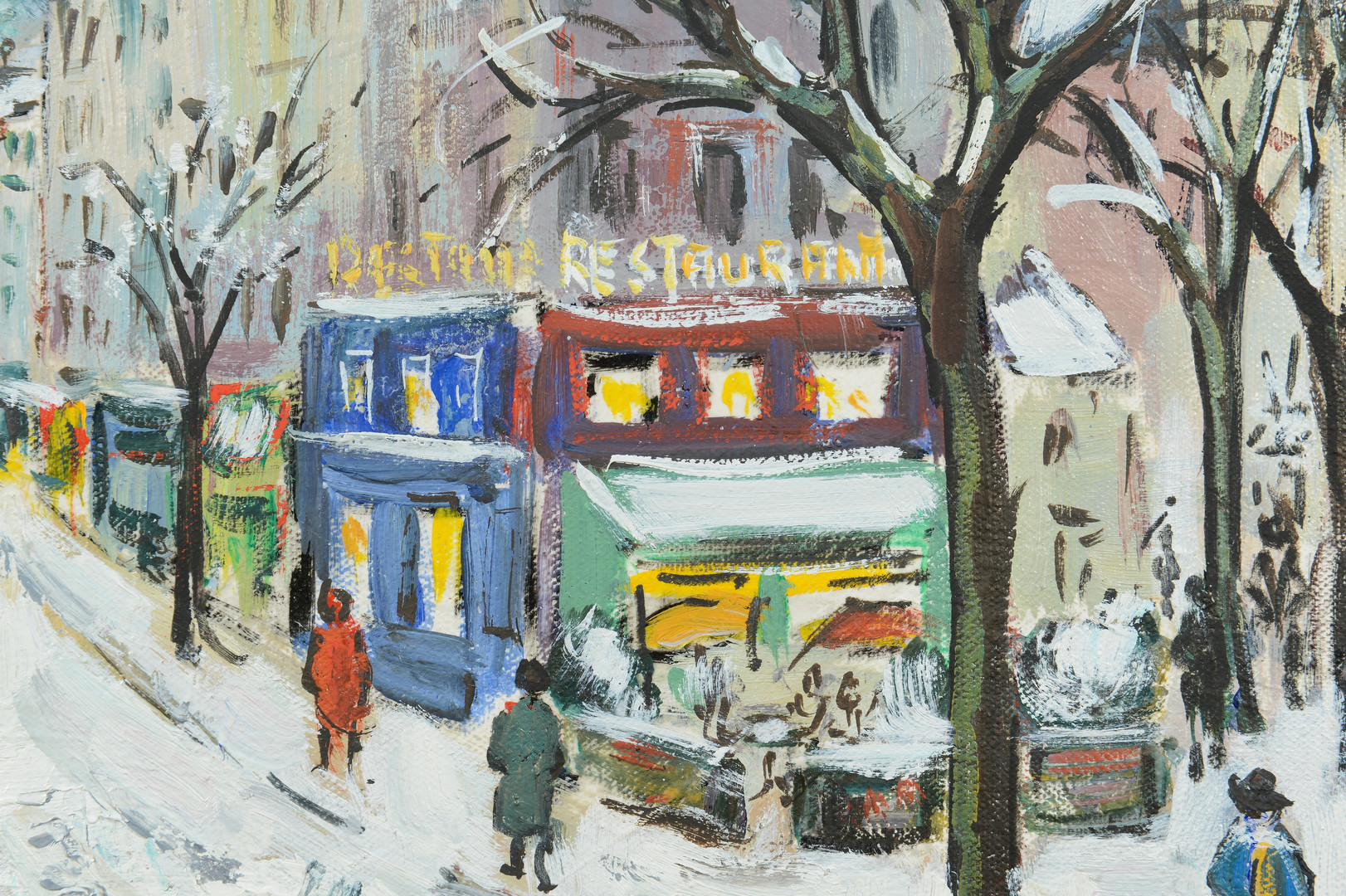 Lot 847: Bruno E. Laurent o/c, Paris in Winter
