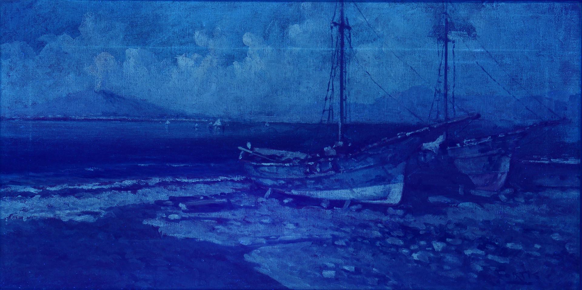 Lot 849: Maria Camussi o/c harbor scene