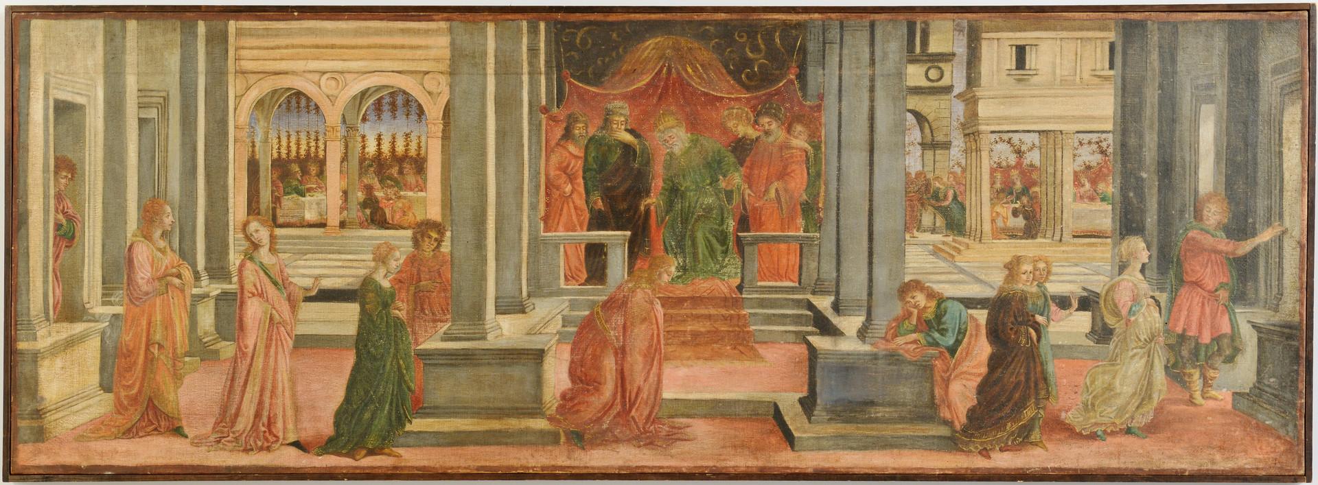 Lot 850: Italian School o/c, Queen Esther