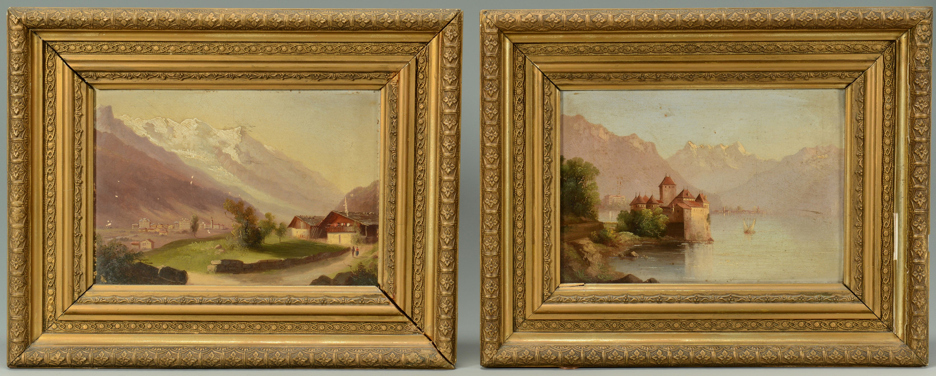 Lot 852: Pr. Oil Paintings, Switzerland