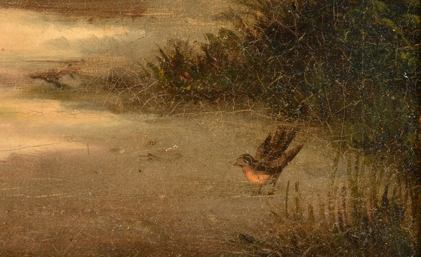 Lot 854: O/C Attr. William Witherington, The Robin