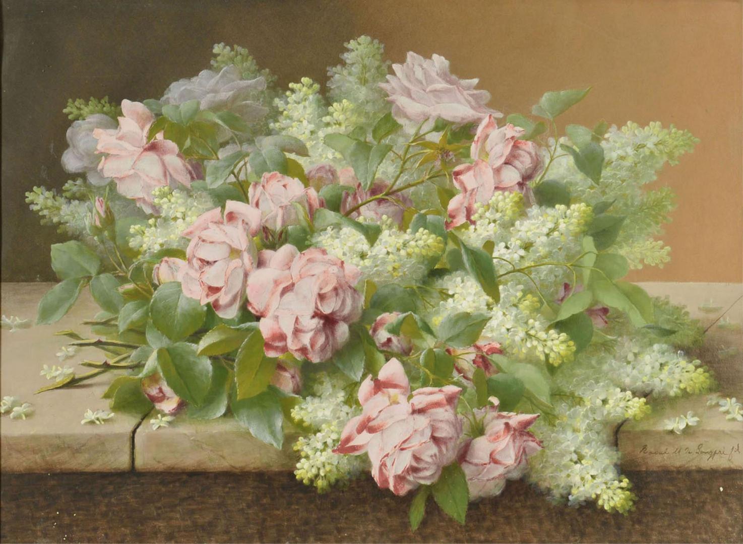 Lot 855: Raoul De Longpre Floral Still Life Painting