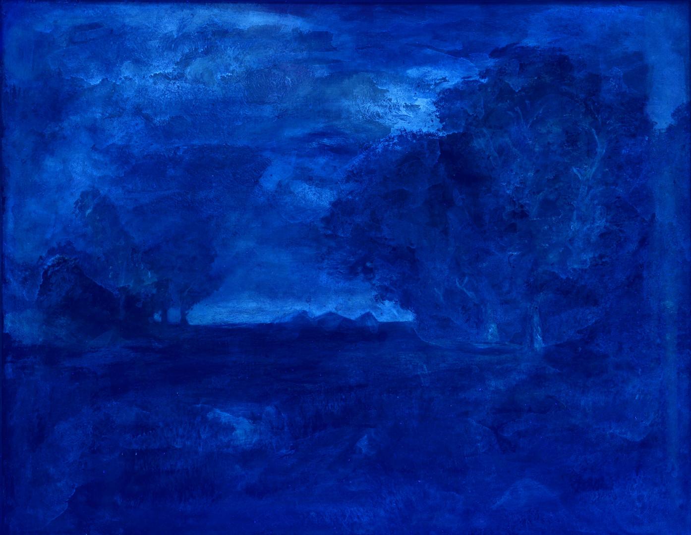 Lot 858: Impressionist Fall Landscape O/C