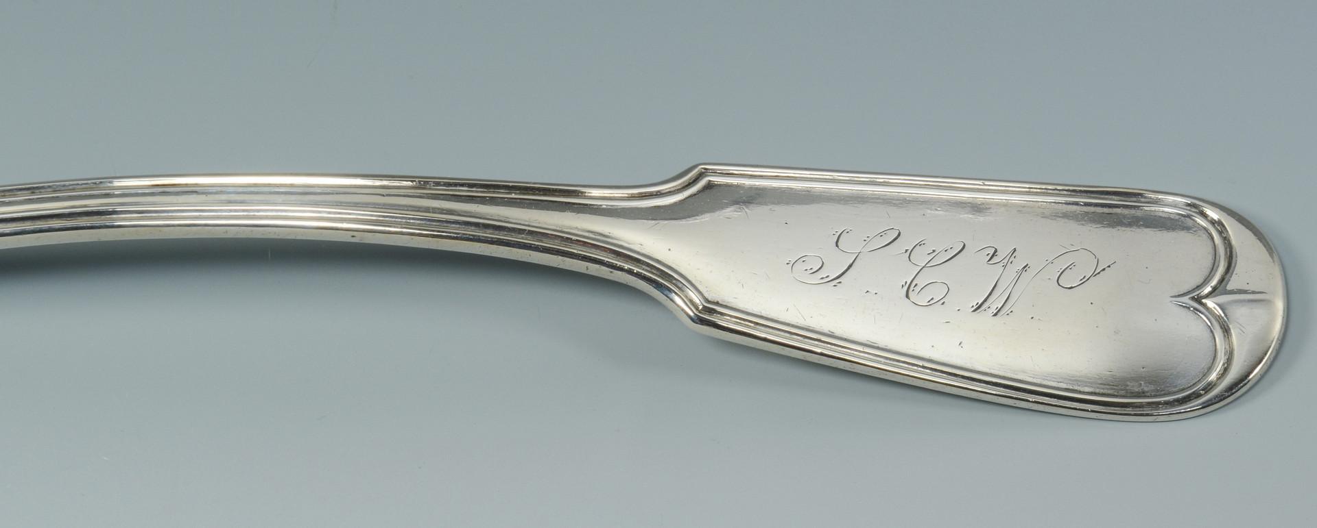 Lot 85: Mobile, Ala. Coin Silver Soup Ladle
