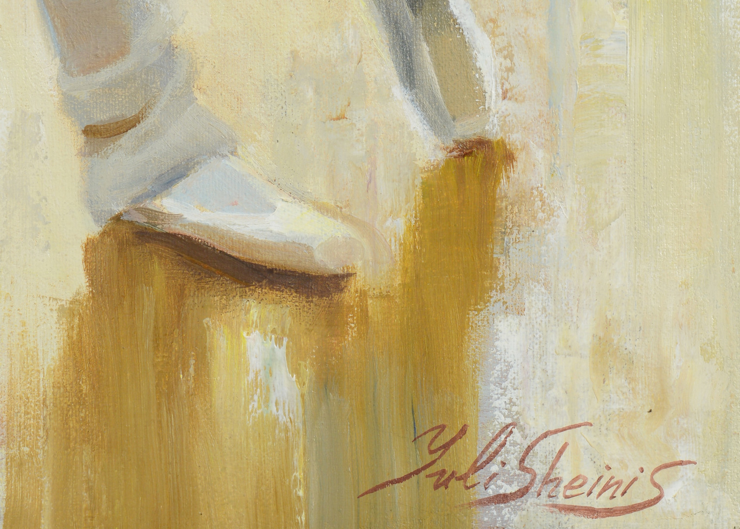 Lot 862: 2 Paintings of Ballerinas by Yuli Sheinis