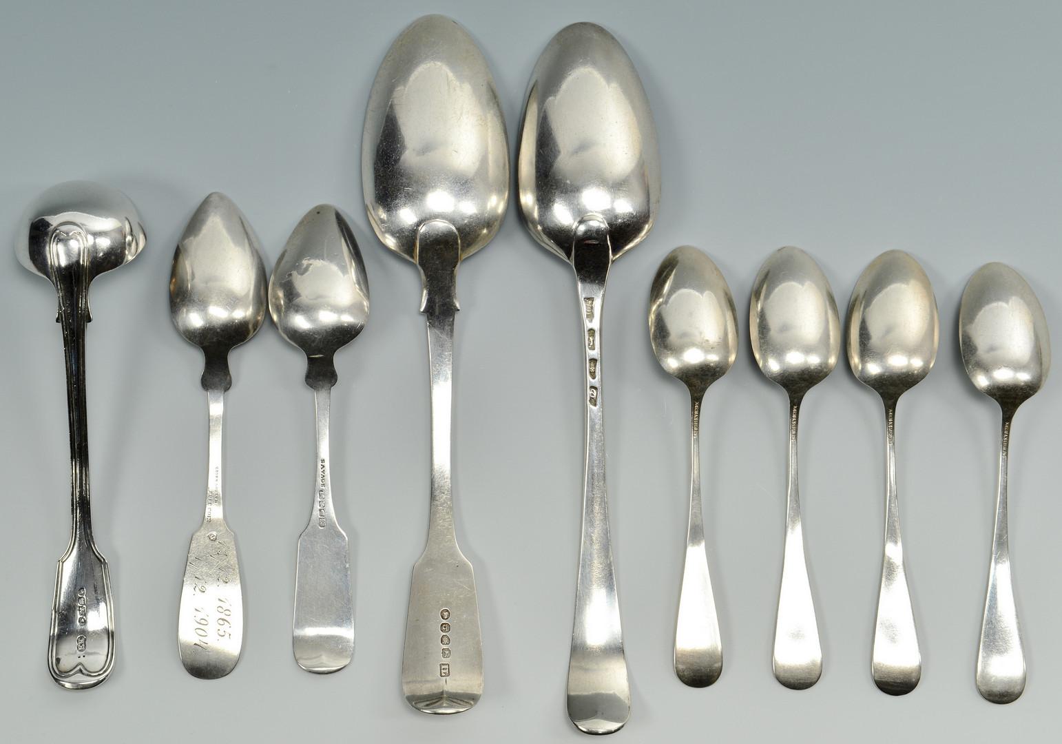 Lot 86: 20 pcs silver flatware inc Southern & English
