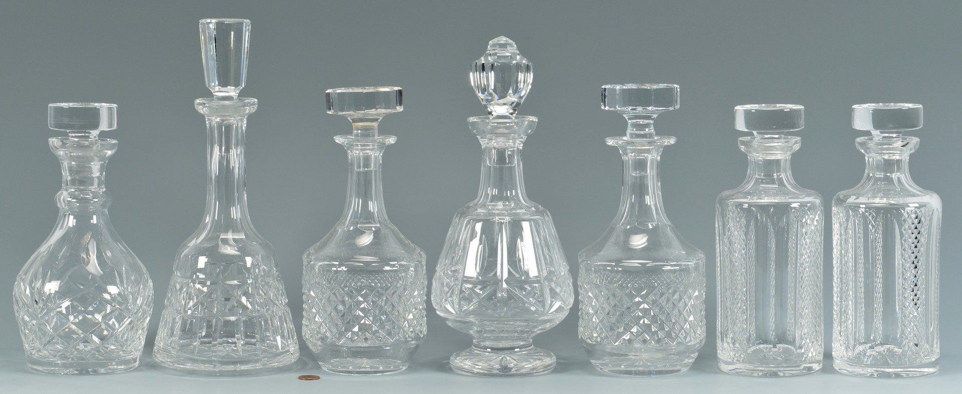 Lot 880 7 Cut Crystal Decanters Waterford Amp Galway