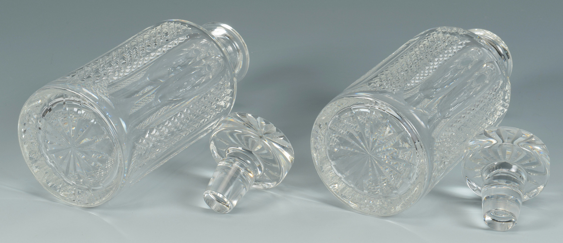 Lot 880: 7 Cut Crystal Decanters, Waterford & Galway