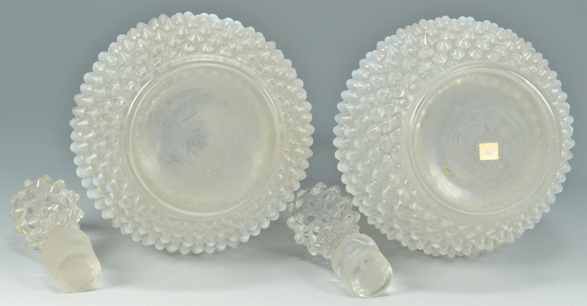 Lot 882: Pr. Fenton Hobnail Glass Decanters