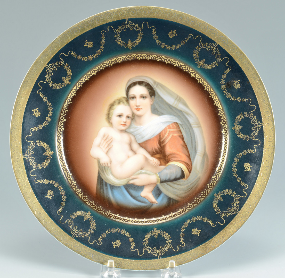 Lot 883: Bride's Basket; Royal Vienna Plate