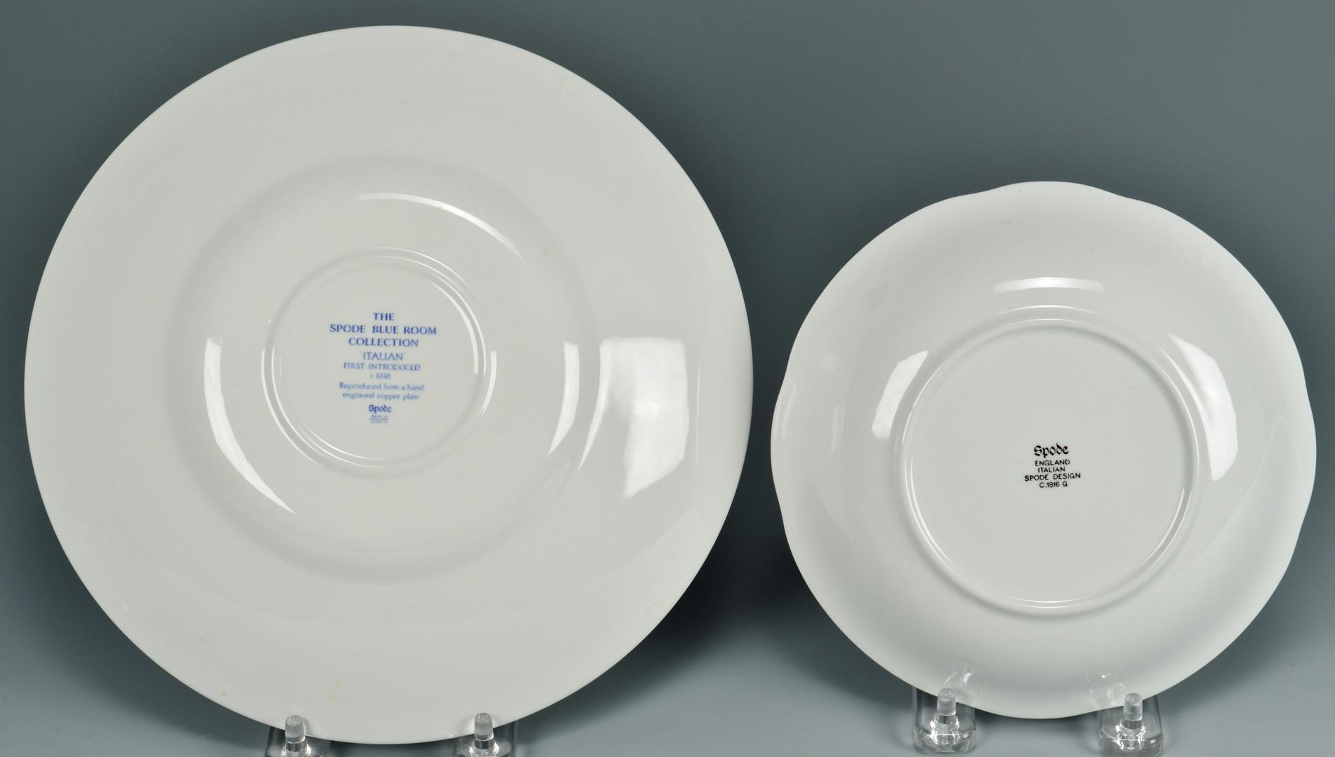 Lot 884: Spode Blue Italian Porcelain, 14 pcs.