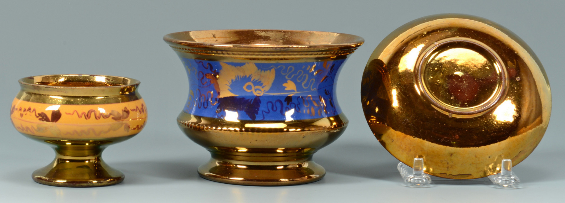 Lot 886: Group of English Copper Lusterware