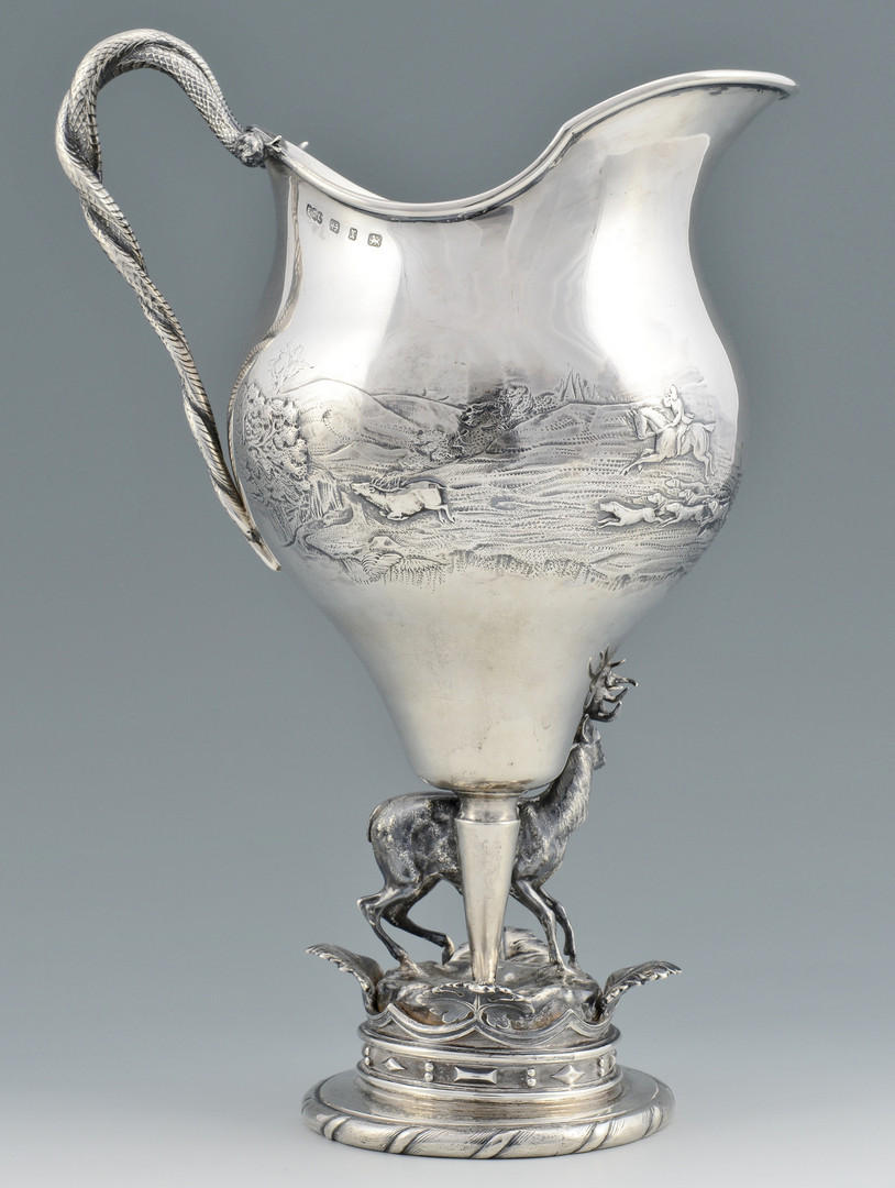 Lot 88: Elkington Sterling Hunt Pitcher