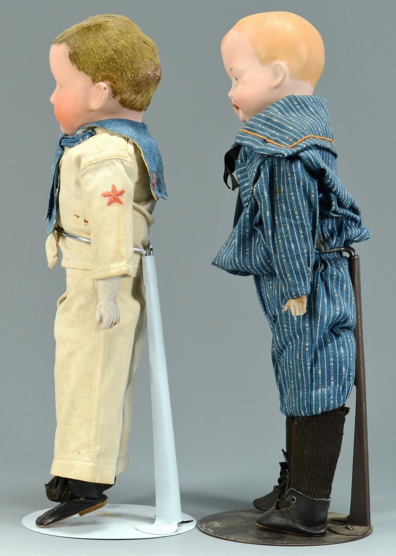 Lot 896: 2 German Bisque Boy Dolls