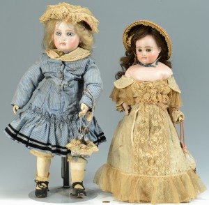 Lot 899: 2 Dolls with French Purses