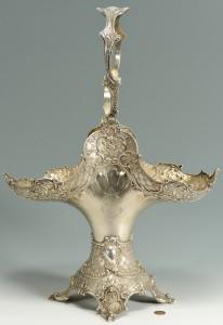 Lot 89: German 800 silver wedding basket