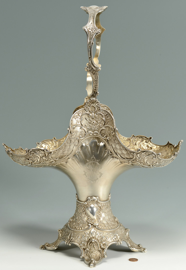 Lot 89: German 800 silver wedding basket