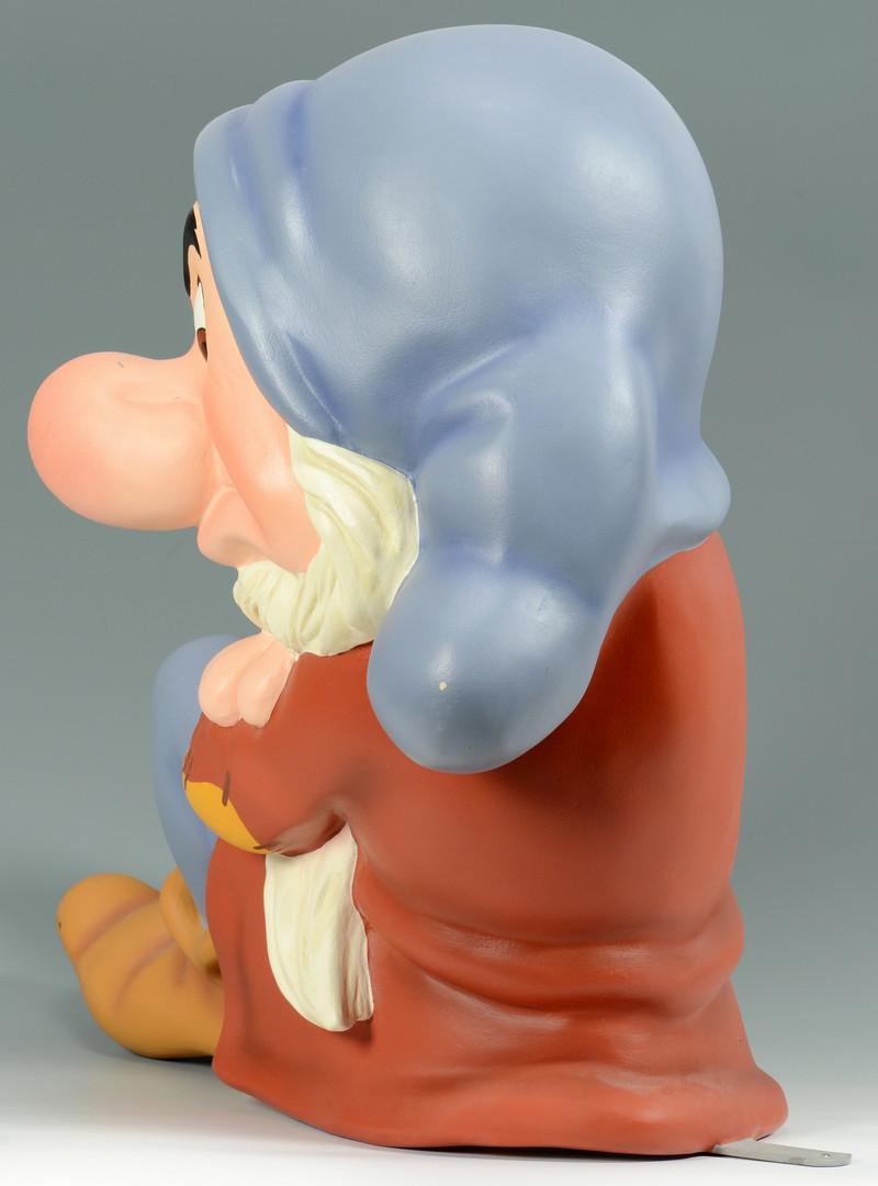Lot 908: Oversized Disney Grumpy Figure