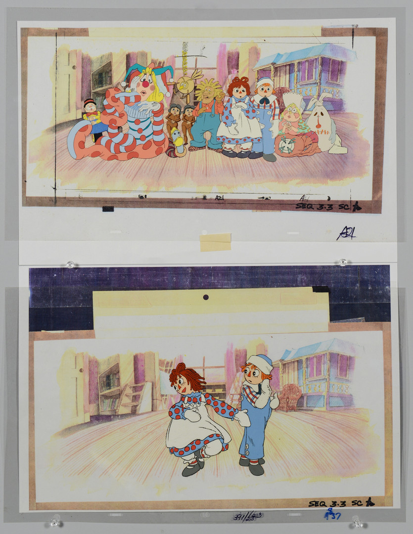 Lot 910: 4 Disney / 2 Raggedy Ann & Andy Production Cels