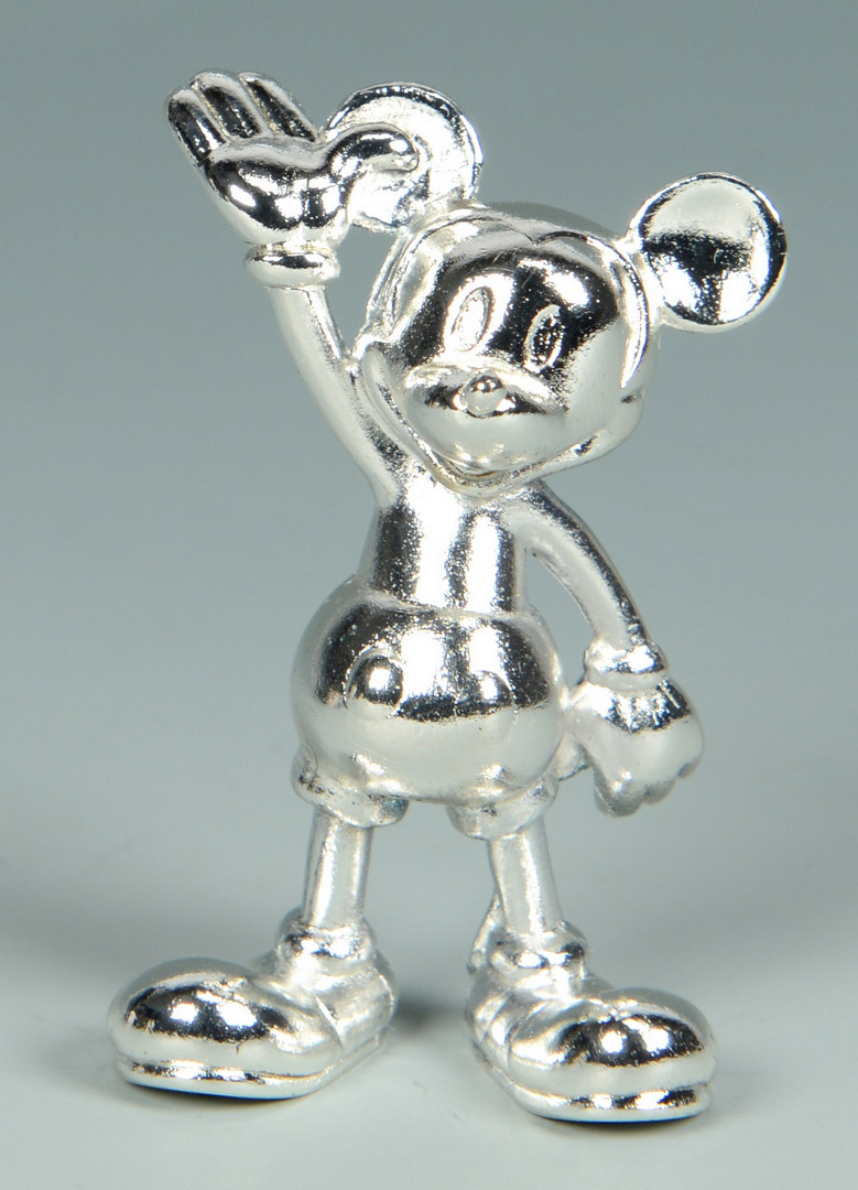 Lot 915: 5 Christofle Silver Mickey Mouse Figurines
