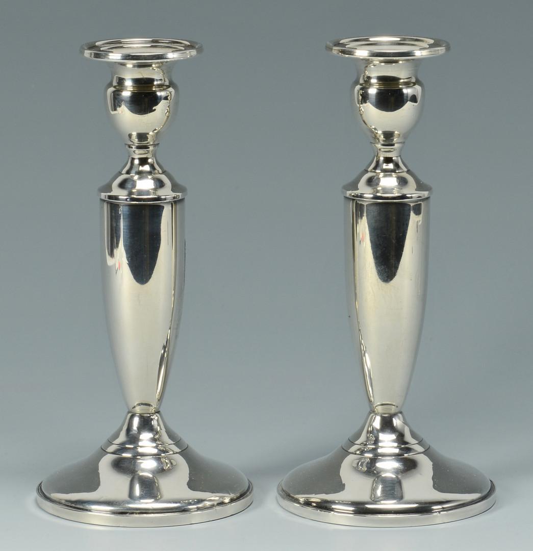 Lot 916: Silver hollowware and tongs, 6 pcs
