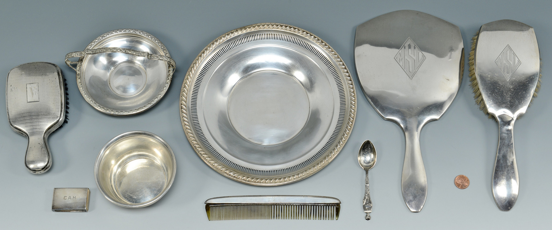 Lot 919: Grouping Of Sterling Items, 8 pcs.