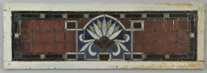 Lot 929: Art Nouveau Stained Glass Transom