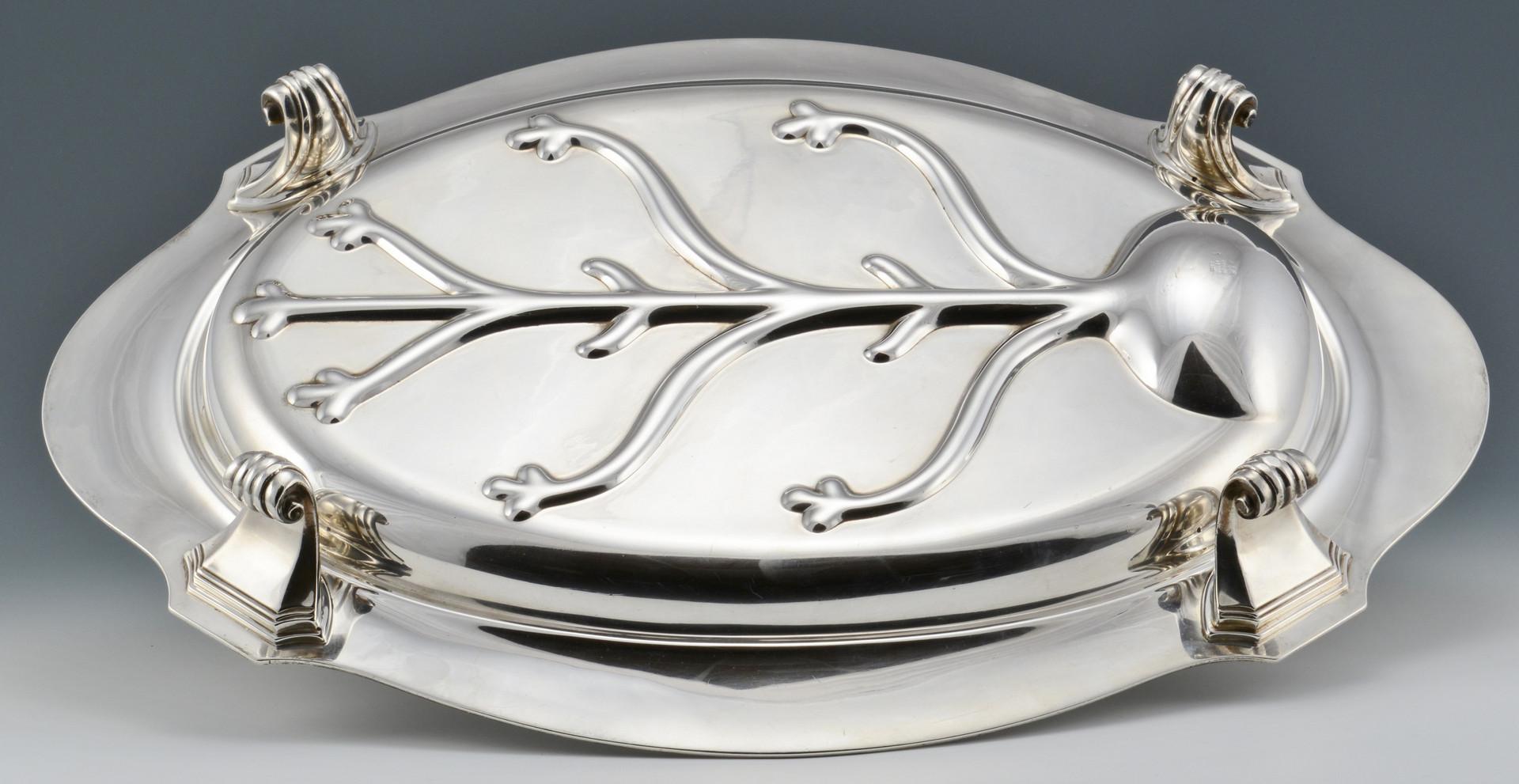 Lot 92: Gorham Sterling Meat Platter