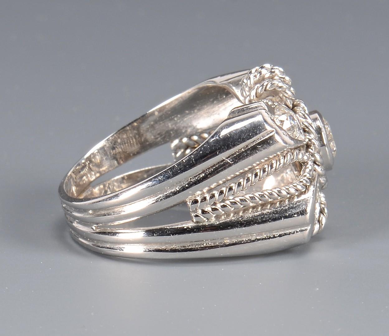 Lot 101: 14k Diamond Fashion Ring