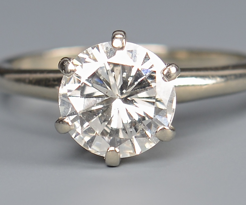 Lot 102 2 02 Carat Diamond Ring With Guard