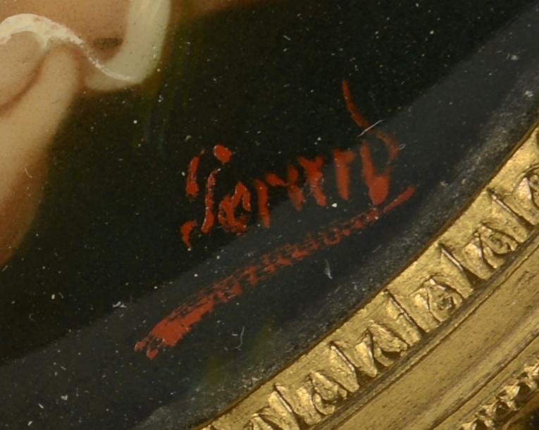 Lot 105: Signed Bronze Portrait Box