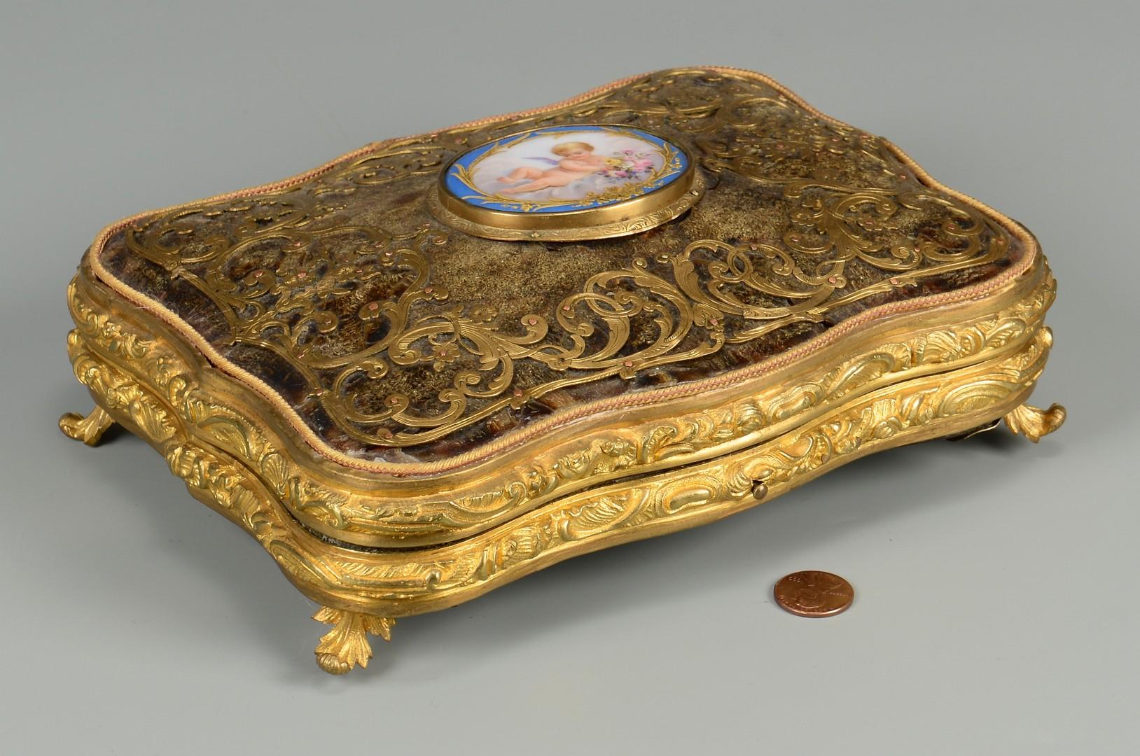 Lot 106: French Bronze Mounted Tortoiseshell Box