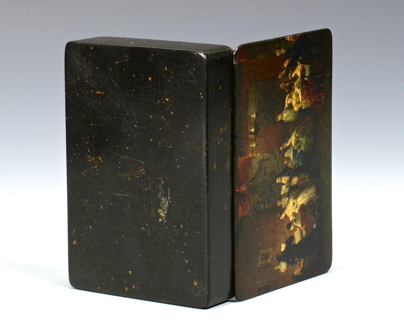 Lot 108: Stobwasser Papier Mache Tobacco Box