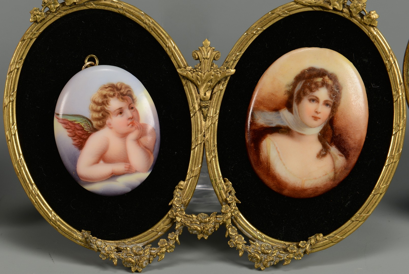 Lot 110: Five Framed Miniature Portraits