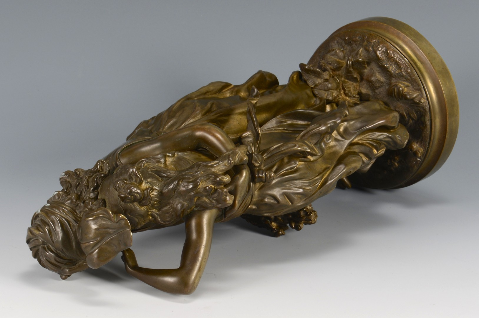 Lot 111: Hippolyte Moreau bronze, Consolation