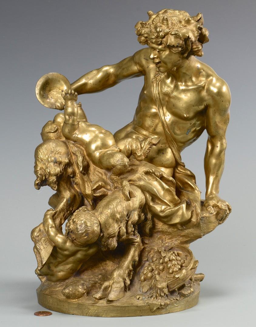Lot 112: Gilt Bronze Satyr Figural, Clodion