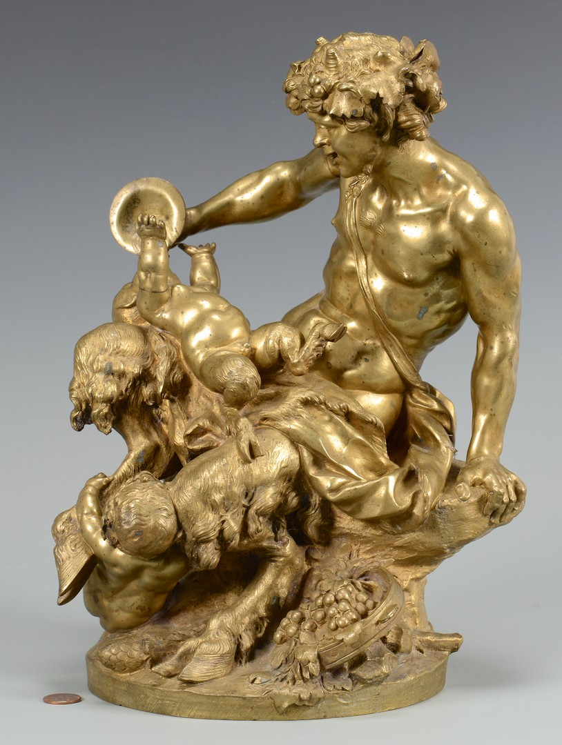Lot 112: Gilt Bronze Satyr Figural, Clodion