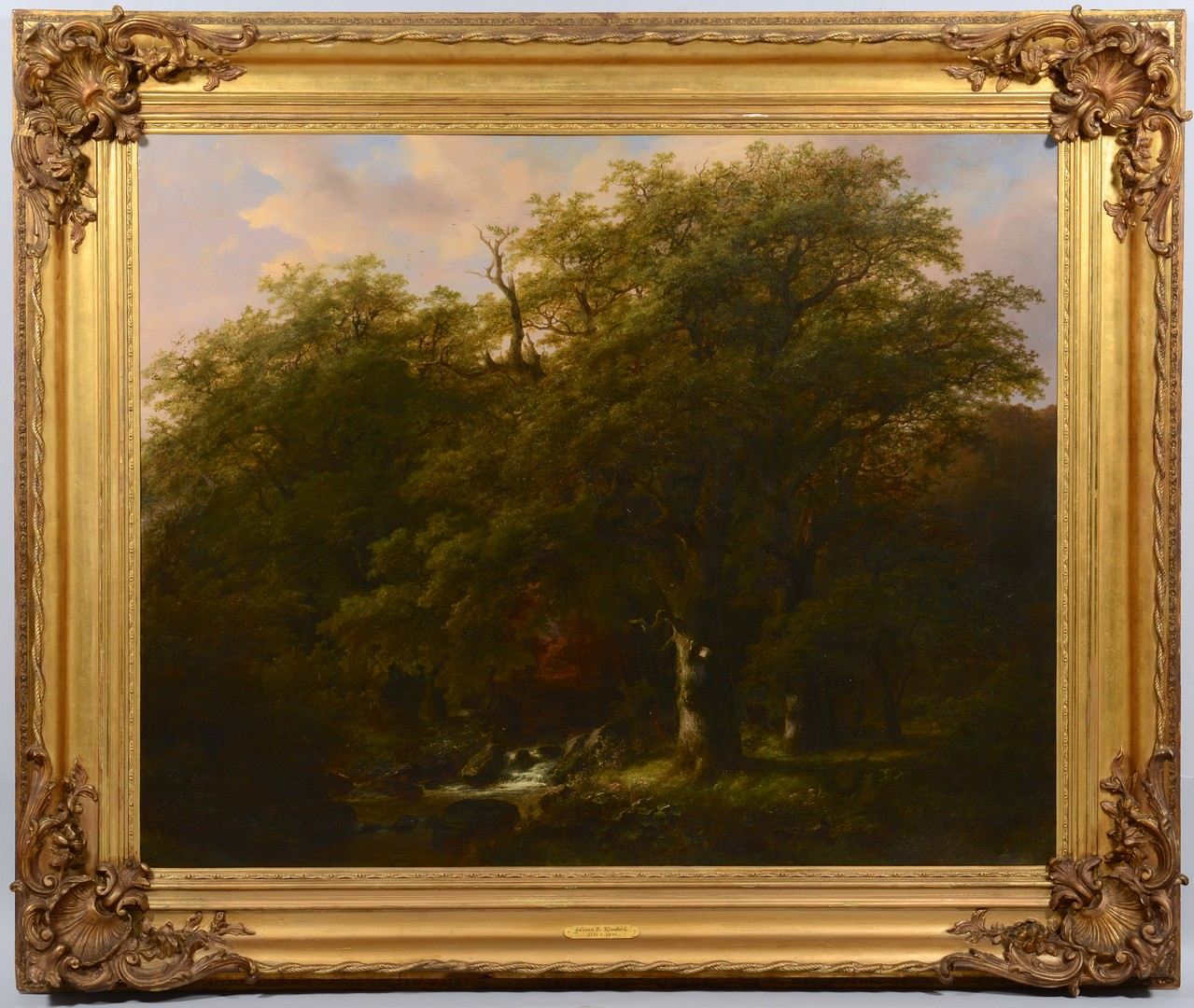 Lot 115: Johann Klombeek Oil on Canvas