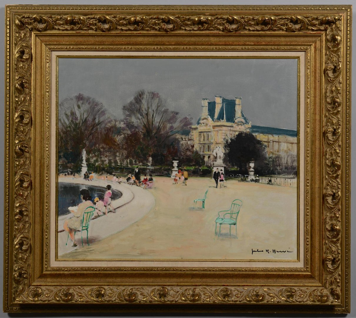Lot 117: Jules Rene Herve Oil on Canvas