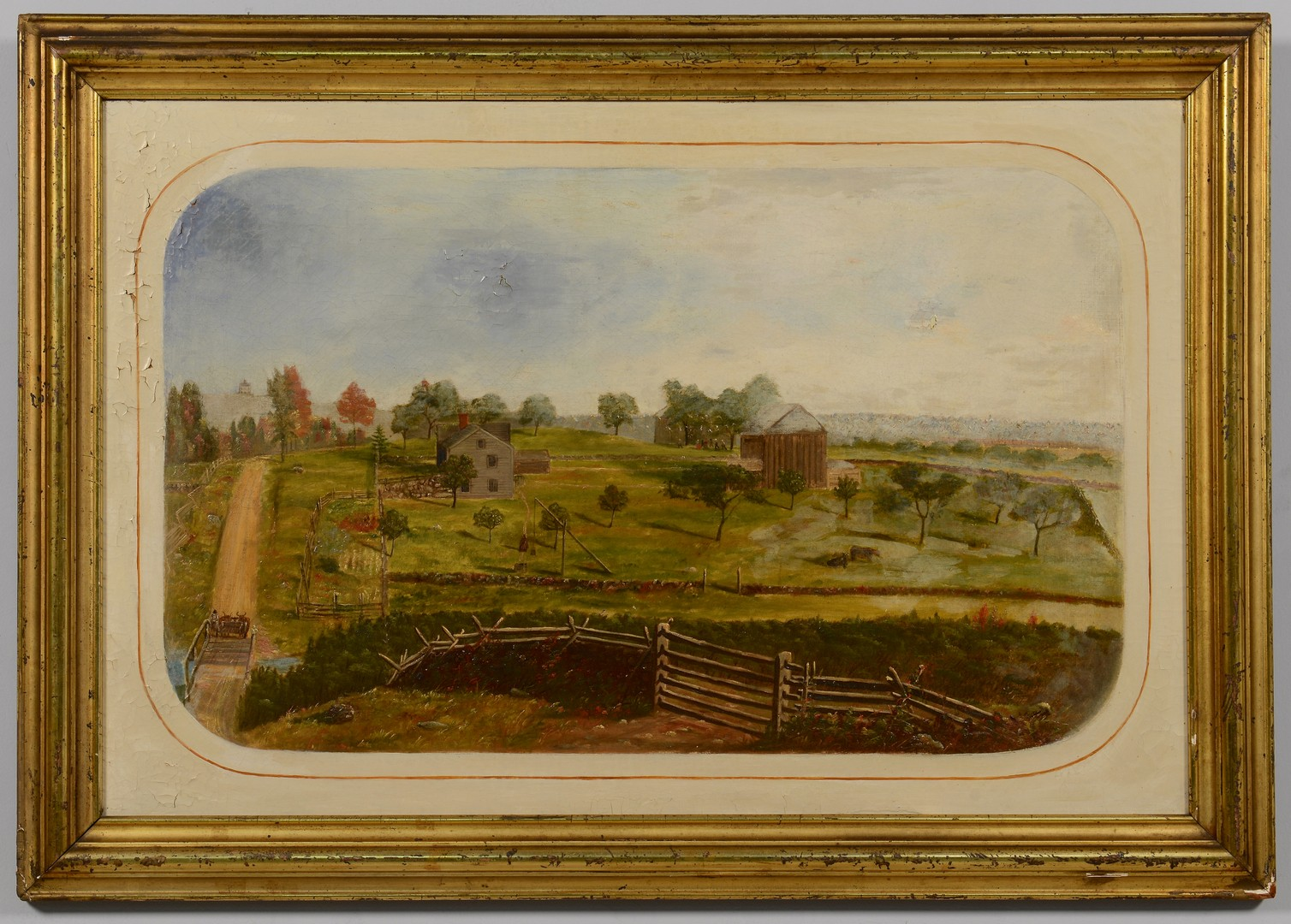 Lot 122: Southern Landscape, possibly Salem, NC School