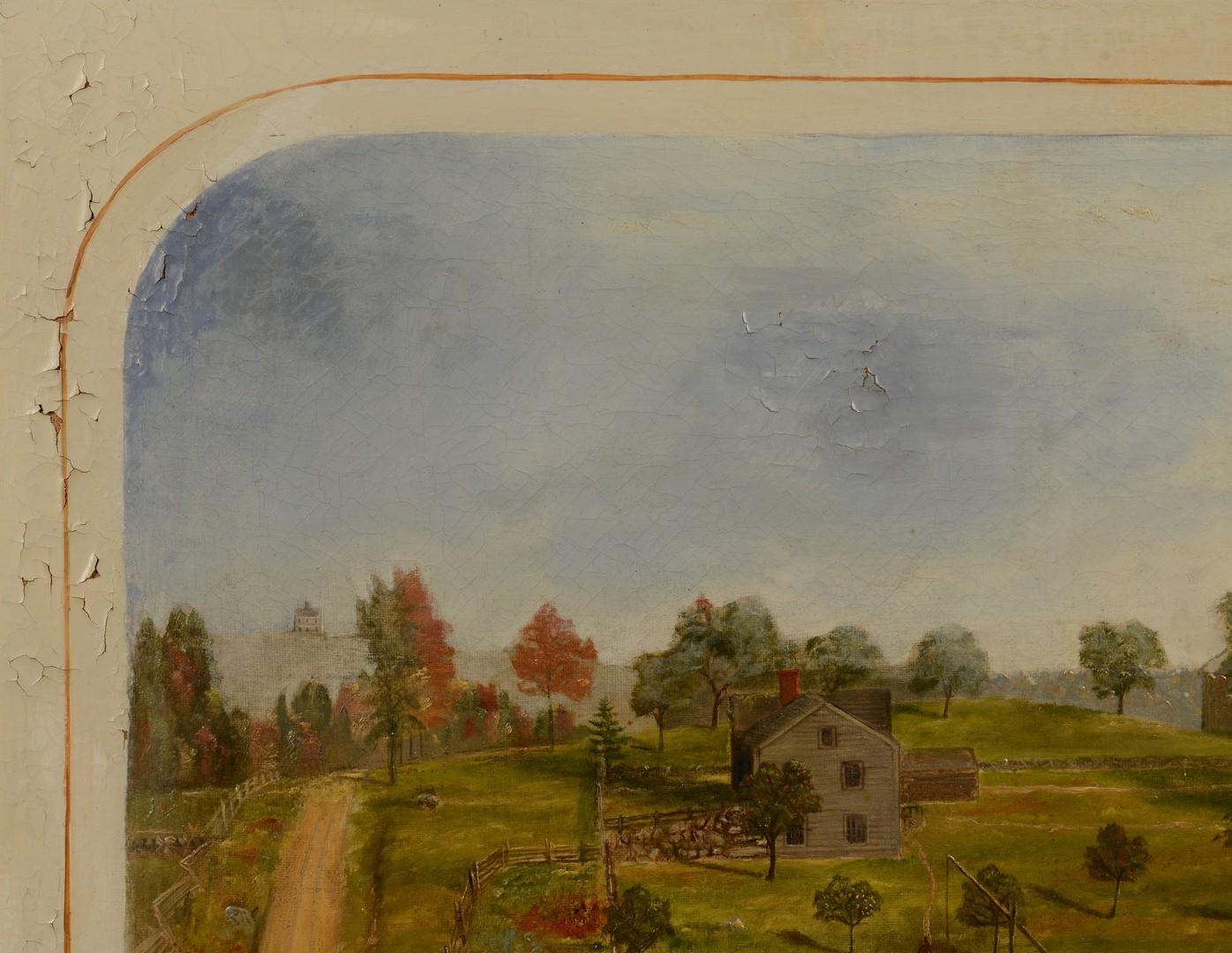 Lot 122: Southern Landscape, possibly Salem, NC School