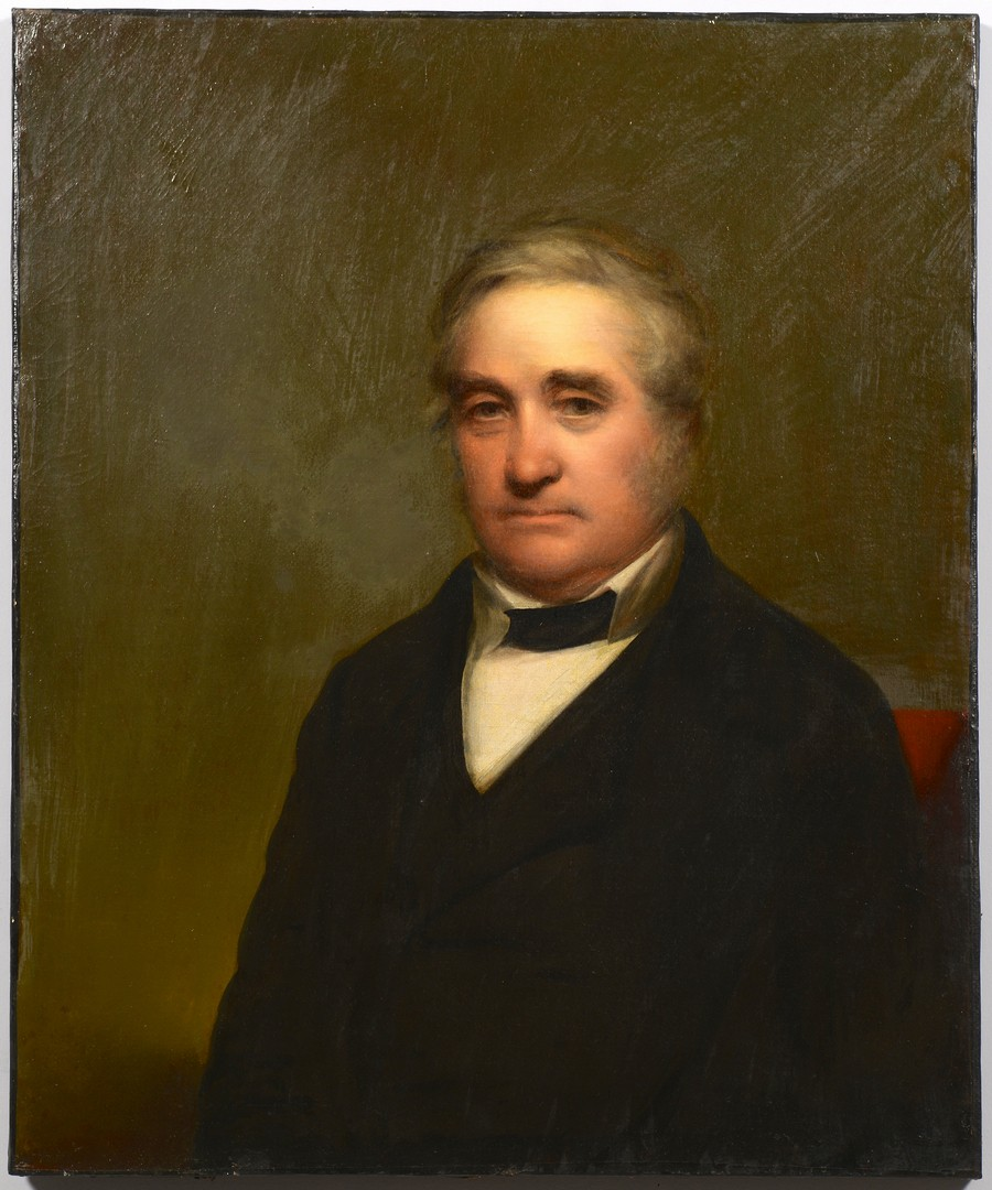 Lot 124: Portrait of John Woolfolk, attr. Peale