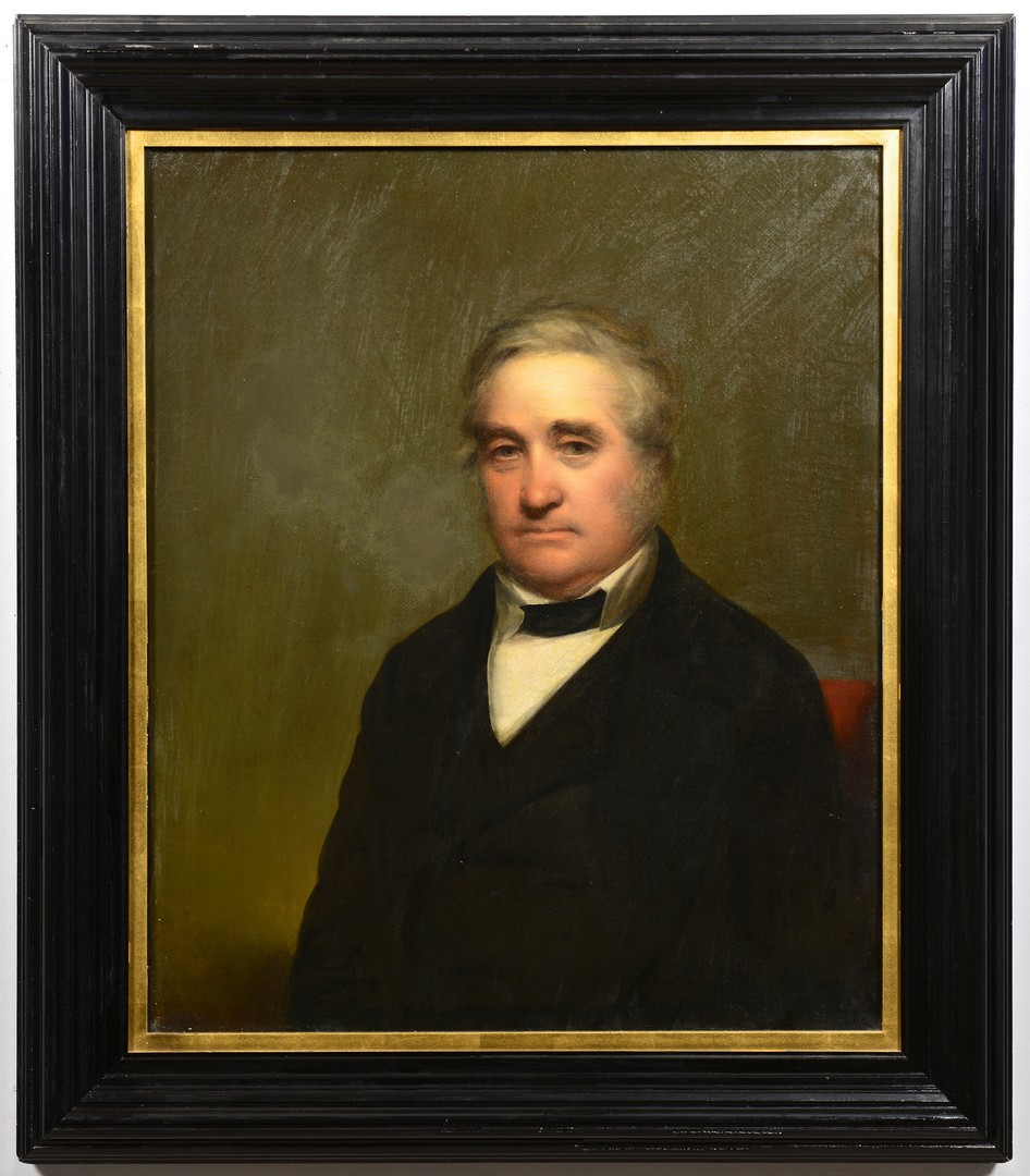 Lot 124: Portrait of John Woolfolk, attr. Peale