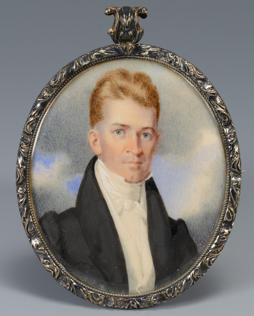 Lot 125: Georgia Miniature Portrait, B. Bibb