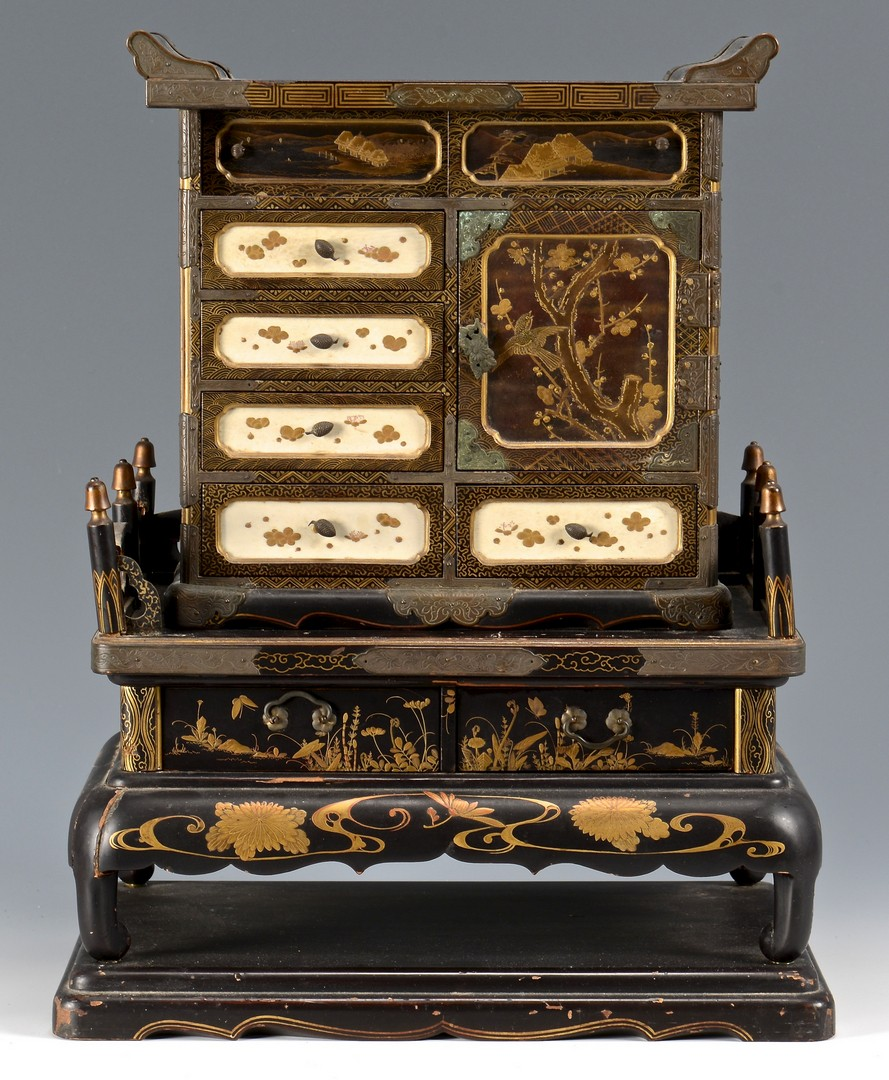 Lot 12: Japanese Takamaki-e Miniature Cabinet