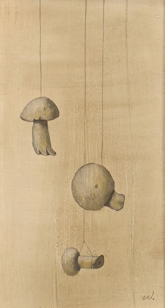 Lot 132: Werner Wildner Mushrooms Painting