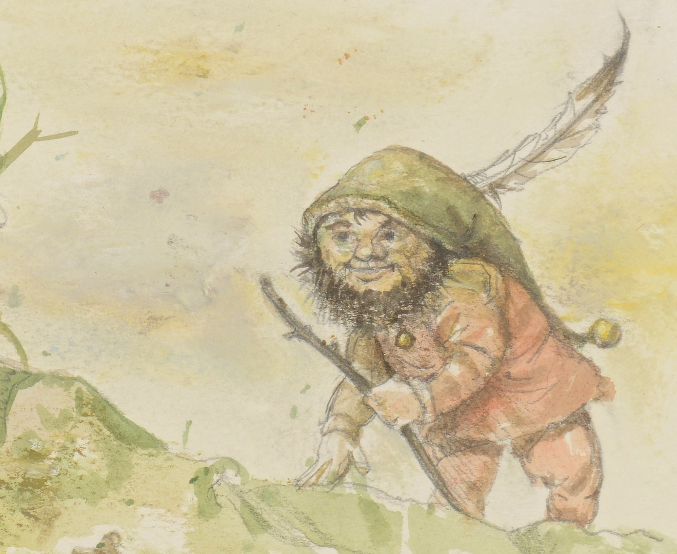 Lot 133: 2 Werner Wildner Gnome Drawings