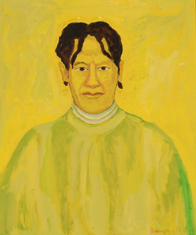Lot 135: Beauford Delaney portrait of Delia Delaney