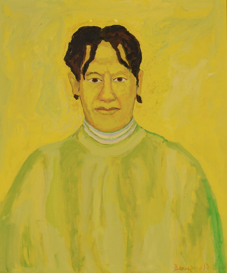 Lot 135: Beauford Delaney portrait of Delia Delaney
